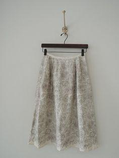 ミナペルホネン mina perhonen drawing リネン刺繍スカート