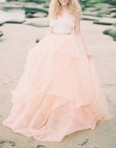Blush wedding gown (I'd love this is ivory or white)