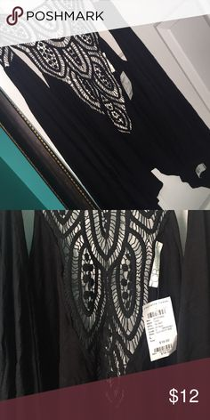 lace shirt vest style brand new with tag! black cover up vest style. with lace detail on back and shoulder! Charlotte Russe Sweaters Shrugs & Ponchos