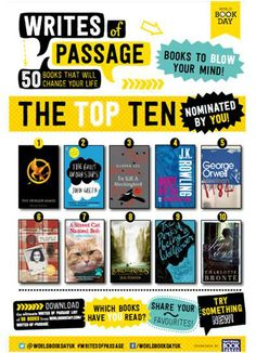 Writes of Passage - top 50 books that will change your life World Book day