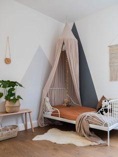 Ikea Girls Room, Girls Bedroom, Kids Room, Ikea Minnen Bed, Comfy Bedroom, Ikea Kids, Little Girl Rooms, Bedroom Colors, Kid Beds