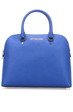 Michael Kors - Large Leather Dome Satchel in Electric Blue