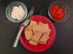 Whole Wheat Crackers. It's just 4 simple ingredients to make your own crackers and avoid the junk in store-bought ones!