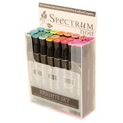 ConsumerCrafts Product Spectrum Noir Alcohol Markers - Brights - 24 pack