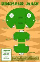 Dinosaur Mask by LadyMascara on deviantART