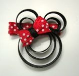 Minnie Mouse ribbon.... for a headband??? or perhaps on a onezie???