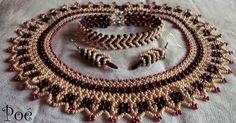 Jewelry Sets, Beaded Jewelry, Gold Rings, Brooch, Beading, Beadwork, Earrings, Stuff To Buy, Beautiful