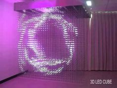 'Like' QUBE LED on Facebook! http://www.facebook.com/QUBELED  Visit http://www.qubeled.com for more details.  Click my YouTube Channel link directly above, to view other 3D Products!    Cube Size: 200*200*230cm (LWH)  Visible side: 5 sides(bottom,left right,front back)  Pixels qty: 32*32*32=32768