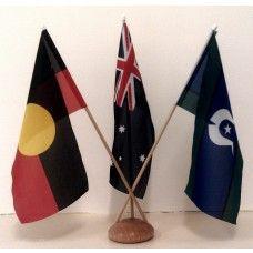 Australian/Aboriginal/TSI Desk Flag Set