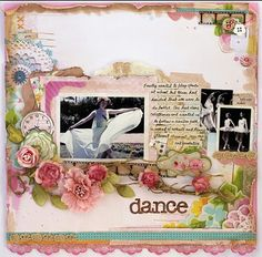 scrapbook page- i will have to boy it up a bit