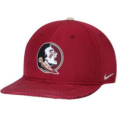 online store a00da e8f95 Men s Nike Garnet Florida State Seminoles Free Trainer 2.0 Hook Zero True  Adjustable Performance Hat Florida
