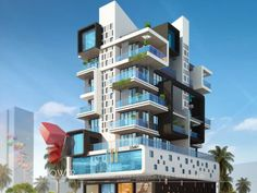 Image result for elevation of apartments