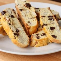A socially acceptable breakfast cookie - Chocolate & Toasted Almond Biscotti.