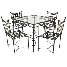 Salterini Patio Set | From a unique collection of antique and modern garden furniture at http://www.1stdibs.com/furniture/building-garden/garden-furniture/