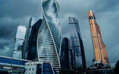 壁紙をダウンロードする モスクワ市, 事業センター, 高層ビル群, モスクワ, ロシア, 近代建築, 近代ビル, ロシア連邦
