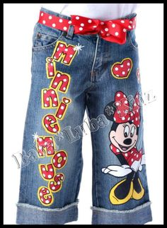 BOTTOMS ONLY Minnie disney hand painted Boutique by Babalubakidz
