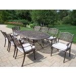 Oakland Living - Mississippi 9 Piece Dining Set with Cushions - 2105-2012-17-AB  SPECIAL PRICE: $2,637.00