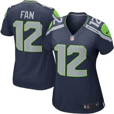 Women's Seattle Seahawks 12th Fan Nike College Navy Game Jersey