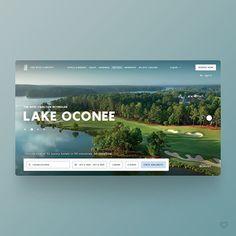 by Aleksandr Sendziuk Website Maker, Lake Oconee, Web Design Inspiration, Daily Inspiration, Great Websites, Seo Sem, Hotel Website, Web Development Company, Design Strategy