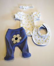 OOAK Baby Doll Clothes Bodysuit Tiny Miracle Mini Reborn Micro Preemie 10""