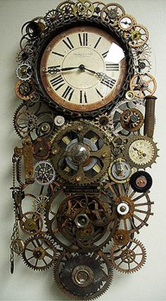 Steampunk Genuine pendulum Clock Fiona- Clocks and the inner workings of clocks could be an interesting bounce off point? Steampunk gadgets and craft Design Steampunk, Casa Steampunk, Style Steampunk, Steampunk Clock, Steampunk Fashion, Steampunk Bedroom, Steampunk Drawing, Steampunk Interior, Steampunk Accessoires