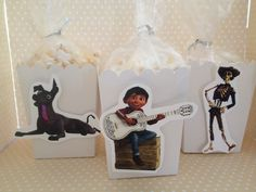 Disney's Coco Movie Party Popcorn or Favor Boxes - Set of 10 by PartyByDrake on Etsy https://www.etsy.com/listing/572143729/disneys-coco-movie-party-popcorn-or