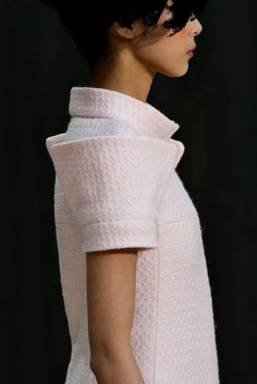 Sculptural sleeve extension - architectural fashion detail // Chanel couture