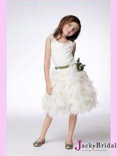 White Short Tulle Flower Girl Dress AFG0176   http://www.jackybridal.com/ offer wedding dresses, prom dresses,cheap formal dresses,cocktail dresses,party dresses,Evening Dresses,Christmas Party dresses 2012 at http://www.jackybridal.com/   $119.00 (USD)