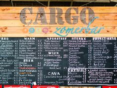 Cargo Zomerbar, Antwerp. Located in what used to be an industrial railway yard, Park Spoor Noord is now a green haven in the north of Antwerp and a perfect example of successful urban development.
