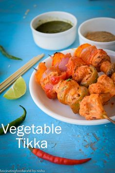 Tandoori Vegetable Tikka- Indian barbequed veggies.  #indian #vegetarian #glutenfree #recipes
