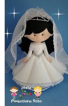 Wedding Doll, Soft Dolls, Felt Crafts, Bride Groom, Cinderella, Disney Characters, Fictional Characters, Wedding Inspiration, Disney Princess