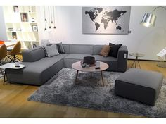 Carmo Sofa hellgrauer Filz