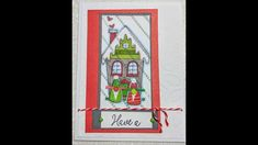 Gingerbread house gnomes. #ctmhofficial, #ctmhfromcandyland #ctmhbuildaplaid, Merry Christmas stamped card