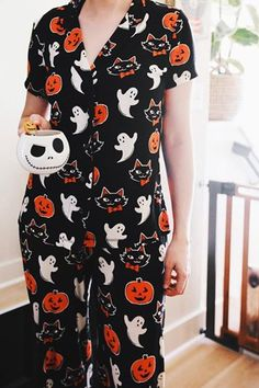 Target's Halloween Pajamas For Women Are Simply Boo-tiful Halloween Mono, Halloween Pajamas, Fete Halloween, Halloween 2020, Halloween Outfits, Happy Halloween, Halloween Decorations, Halloween Costumes, Halloween Clothes