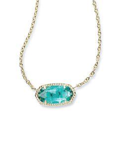 Kendra Scott Elisa Pendant Necklace In London Blue