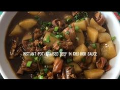 Instant Pot: Braised beef in chu hou sauce 柱侯蘿蔔燉牛腩 - YouTube