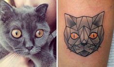 Cat lovers would Love this: 20 Minimalistic Cat Tattoos for Cat ...