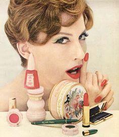 1950s cosmetics advertisement. http://fiftiesglamour.blogspot.ca
