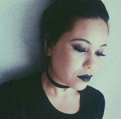 Tumblr, instatumblr, tumblrgirl, inspiração, make, makeup, makeup Black, Black