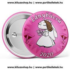 Menyasszony lánybúcsú kitűző 2020 barna