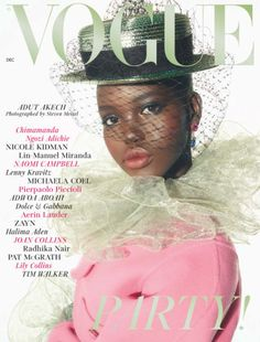 Congrats to Editor in Chief Edward Enninful on his first year at British Vogue./ Adut Akech Bior photographed by Steven Meisel for Vogue UK December Styled by Edward Enninful. Makeup by Pat McGrath. V Magazine, Vogue Magazine Covers, Vogue Covers, Magazine Wall, Steven Meisel, Teen Vogue, Fashion Cover, Fashion Art, Fashion Black