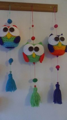 Owl Crochet Patterns, Crochet Owls, Crochet Home, Amigurumi Patterns, Crochet Animals, Crochet Designs, Crochet Crafts, Yarn Crafts, Crochet Projects