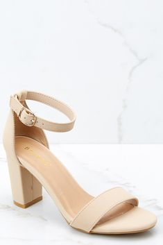 Lifts Us Up White Tassel Earrings - Heels Ankle Strap Heels, Ankle Straps, White Tassel Earrings, Gold Earrings, Nude Shorts, Short Heels, Bridesmaid Shoes, Bridesmaids, Blue Jumpsuits