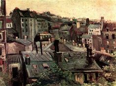 How did van Gogh become van Gogh? The two years, from 1886 to 1888, which he spent living with his brother among the rooftops of Paris, marked his transition from somber dark to expressive color. Read more on my blog.