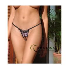 Rosalie Open G-String Lola Luna. For more information, additional photos and to purchase, visit http://www.enchantedpleasures.com/rosalie-open-g-string-lola-luna