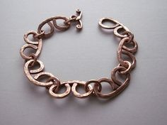 Copper charm bracelet handmade copper bracelet by copperryfields