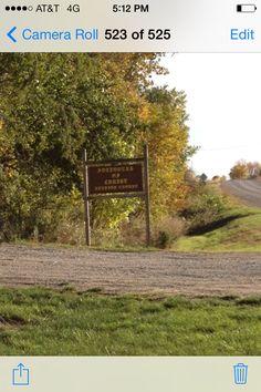 Sign at the entrance at Larpenteur Memorial Road.
