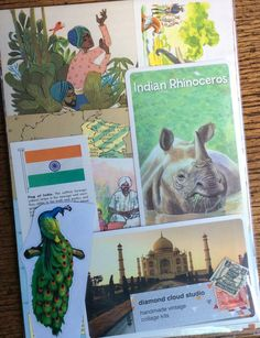 Let's Travel to India Vintage Collage Kit by diamondcloudstudio