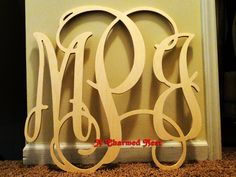 24 inch Wooden Wall Monogram Letters. Great for weddings, birthdays, gifts, nursery and home decor on Etsy, $28.75