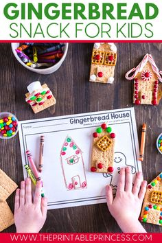 Today I'm sharing with you the easiest graham cracker gingerbread houses that you will ever make. They are perfect for Pre-K, Kindergarten, and First Grade class parties or make them at home, just for fun!  The sweetest Christmas craft this season!
